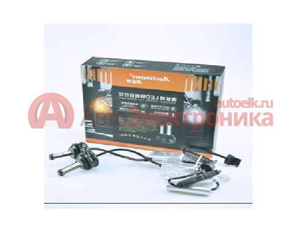 Светодиодные лампы Aozoom с ДХО в поворотники 2 в 1 (белый+оранжевый свет)