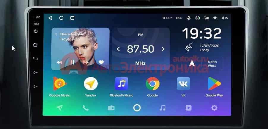 Штатная магнитола   на Android 9.1 16/1 (Без DPS) Toyota Verso 2009 - 2018