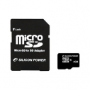Карта памяти MicroSDHC 4 Gb Silicon Power class 10