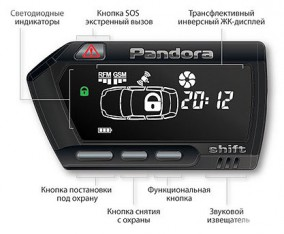 Брелок основной D700 Pandora DXL 3900/3950
